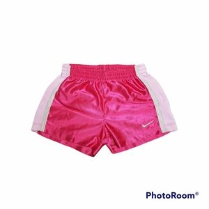Pink and white Nike shorts 4T